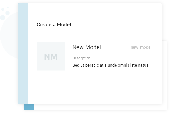 Create your own model by configuring - MDM